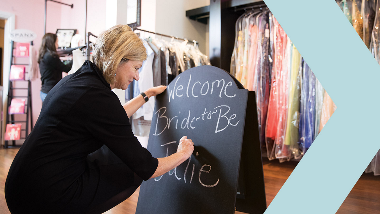 Bridal boutique uses customized marketing to brides