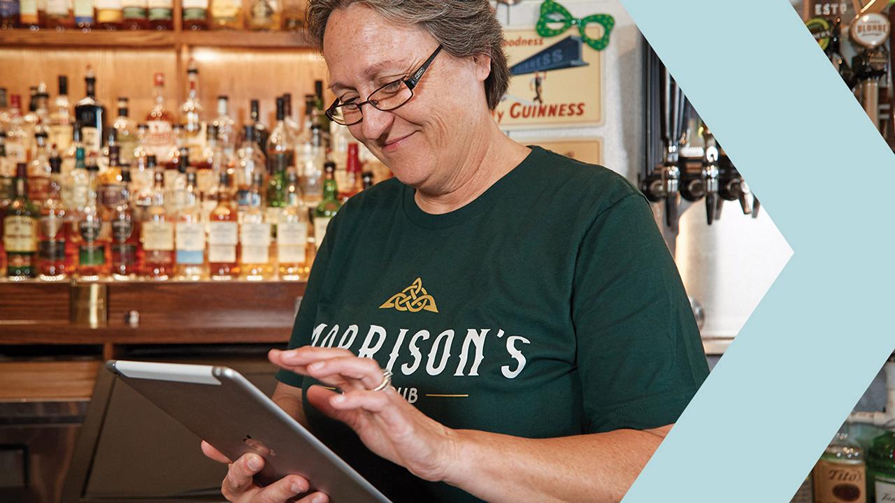Morrison's Irish Pub owner utilizes a tablet for marketing