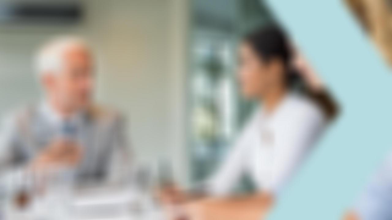 CFO talking to employees
