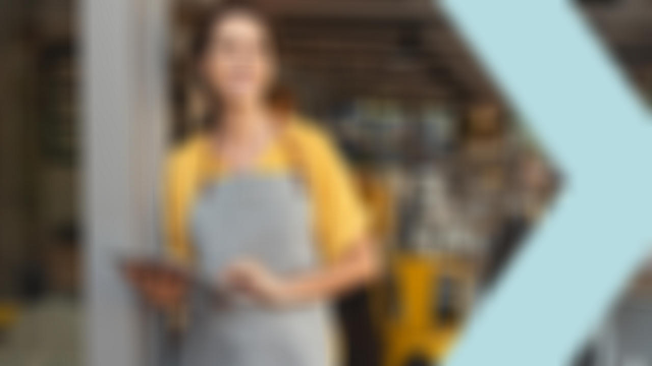 Small business owner woman smiling