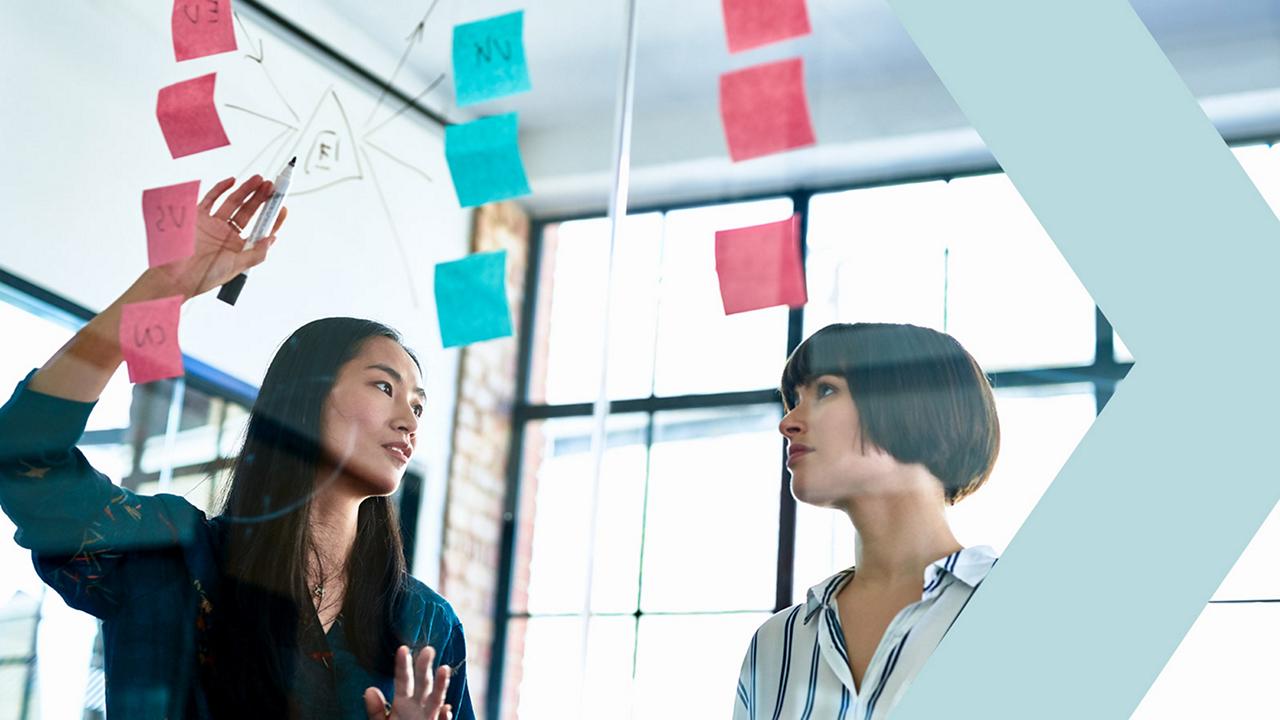Entrepreneurs discussing marketing plan